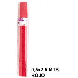 Papel crespón / pinocho liderpapel en formato 0,5x2,5 mts. de 85 grs/m². color rojo.