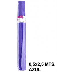 Papel crespón / pinocho liderpapel en formato 0,5x2,5 mts. de 85 grs/m². color azul.