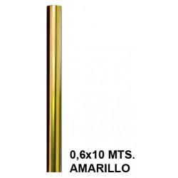Papel celofán liderpapel en formato 0,6x10 mts. de 30 grs/m². color amarillo.