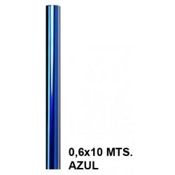Papel celofán liderpapel en formato 0,6x10 mts. de 30 grs/m². color azul.