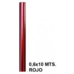 Papel celofán liderpapel en formato 0,6x10 mts. de 30 grs/m². color rojo.