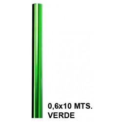 Papel celofán liderpapel en formato 0,6x10 mts. de 30 grs/m². color verde.
