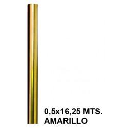 Papel celofán sadipal en formato 0,5x16,25 mts. de 30 grs/m². color amarillo.