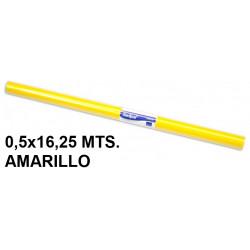 Papel charol sadipal en formato 0,5x16,25 mts. de 65 grs/m². color amarillo.