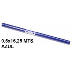 Papel charol sadipal en formato 0,5x16,25 mts. de 65 grs/m². color azul.