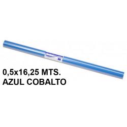 Papel charol sadipal en formato 0,5x16,25 mts. de 65 grs/m². color azul cobalto.
