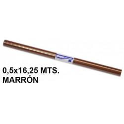 Papel charol sadipal en formato 0,5x16,25 mts. de 65 grs/m². color marrón.
