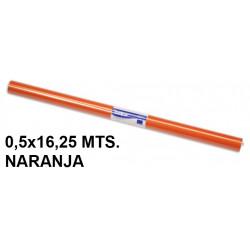 Papel charol sadipal en formato 0,5x16,25 mts. de 65 grs/m². color naranja.