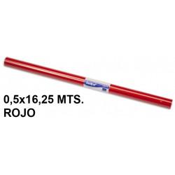 Papel charol sadipal en formato 0,5x16,25 mts. de 65 grs/m². color rojo.