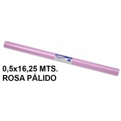 Papel charol sadipal en formato 0,5x16,25 mts. de 65 grs/m². color rosa pálido.