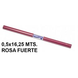 Papel charol sadipal en formato 0,5x16,25 mts. de 65 grs/m². color rosa fuerte.