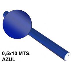 Papel metalizado sadipal en formato 0,5x10 mts. de 65 grs/m². color azul.
