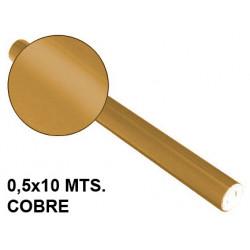 Papel metalizado sadipal en formato 0,5x10 mts. de 65 grs/m². color cobre.