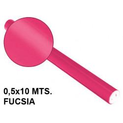 Papel metalizado sadipal en formato 0,5x10 mts. de 65 grs/m². color fucsia.