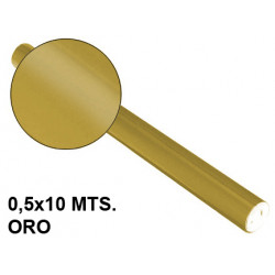 Papel metalizado sadipal en formato 0,5x10 mts. de 65 grs/m². color oro.