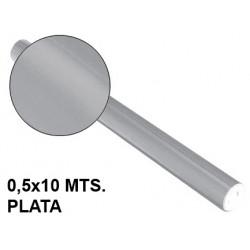 Papel metalizado sadipal en formato 0,5x10 mts. de 65 grs/m². color plata.