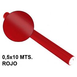 Papel metalizado sadipal en formato 0,5x10 mts. de 65 grs/m². color rojo.