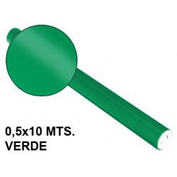 Papel metalizado sadipal en formato 0,5x10 mts. de 65 grs/m². color verde.