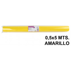 Tela sintética de terileno liderpapel en formato 0,5x5 mts. de 25 grs/m². color amarillo.