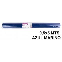 Tela sintética de terileno liderpapel en formato 0,5x5 mts. de 25 grs/m². color azul marino.