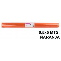 Tela sintética de terileno liderpapel en formato 0,5x5 mts. de 25 grs/m². color naranja.