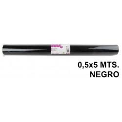 Tela sintética de terileno liderpapel en formato 0,5x5 mts. de 25 grs/m². color negro.