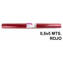 Tela sintética de terileno liderpapel en formato 0,5x5 mts. de 25 grs/m². color rojo.