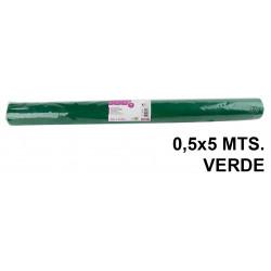 Tela sintética de terileno liderpapel en formato 0,5x5 mts. de 25 grs/m². color verde.