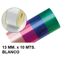 Cinta de fantasía eurocinsa en formato 13 mm. x 10 mts. color blanco.