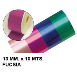 Cinta de fantasía eurocinsa en formato 13 mm. x 10 mts. color fucsia.