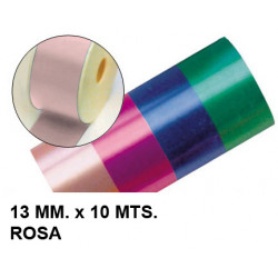 Cinta de fantasía eurocinsa en formato 13 mm. x 10 mts. color rosa.