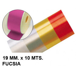 Cinta de fantasía eurocinsa en formato 19 mm. x 10 mts. color fucsia.