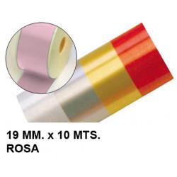 Cinta de fantasía eurocinsa en formato 19 mm. x 10 mts. color rosa.
