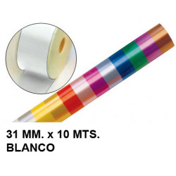 Cinta de fantasía eurocinsa en formato 31 mm. x 10 mts. color blanco.