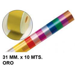 Cinta de fantasía eurocinsa en formato 31 mm. x 10 mts. color oro.