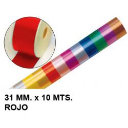 Cinta de fantasía eurocinsa en formato 31 mm. x 10 mts. color rojo.