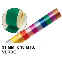 Cinta de fantasía eurocinsa en formato 31 mm. x 10 mts. color verde.