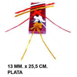 Cinta de fantasía eurocinsa en formato 13 mm. x 25,5 cm. color oro, caja de 100 uds.