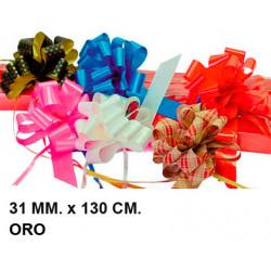Cinta de fantasía eurocinsa en formato 31 mm. x 130 cm. color blanco, caja de 50 uds.