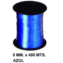 Cinta de fantasía eurocinsa en formato 5 mm. x 450 mts. color azul.