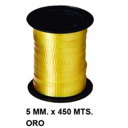 Cinta de fantasía eurocinsa en formato 5 mm. x 450 mts. color oro.