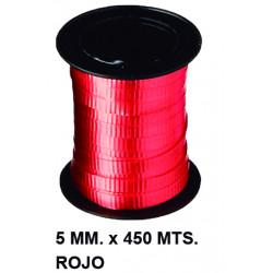 Cinta de fantasía eurocinsa en formato 5 mm. x 450 mts. color rojo.