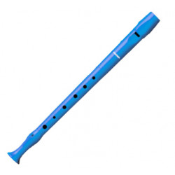 Flauta dulce de plástico hohner serie melody 9508, color celeste.