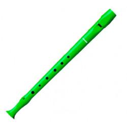 Flauta dulce de plástico hohner serie melody 9508, color verde.