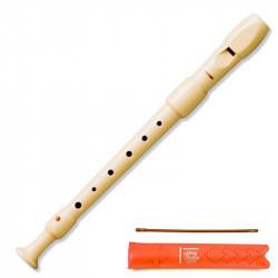 Flauta dulce de plástico desmontable en 2 piezas hohner serie melody 9516, color marfil.