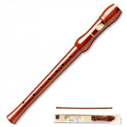 Flauta dulce de madera desmontable en 2 piezas hohner serie melody 9555, color marrón.