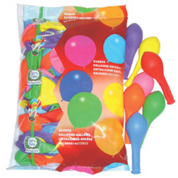 Globo balloons® cp redondo de látex 100%, colores surtidos, bolsa de 100 uds.