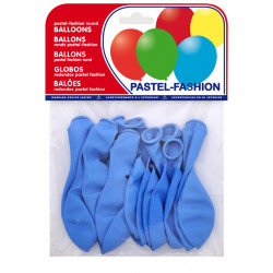 Globo balloons® cp redondo de látex 100%, color pastel azul celeste, bolsa de 20 uds.