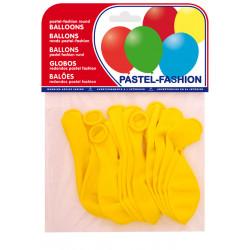 Globo balloons® cp redondo de látex 100%, color pastel amarillo, bolsa de 20 uds.