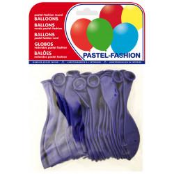 Globo balloons® cp redondo de látex 100%, color pastel azul marino, bolsa de 20 uds.